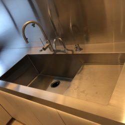 キッチン用  ステンレス  L型カウンター